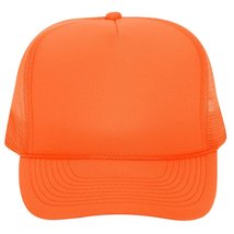 OTTO Trucker Hat Neon Polyester Foam Front Golf Style Mesh Back Caps - $7.99
