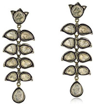 Wonderful Victo. Look .925 Sterling Silver 1.00Ct. Antique Cut Diamond Earrings - $416.48