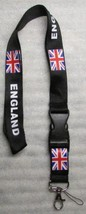 ENGLAND with Flag Quick Release LANYARD KEY CHAIN Ring Keychain ID Holde... - $9.99