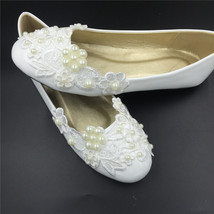 White Women Big Toe Wedding Slippers Shoes,Big Toe Wedding Ballet Flats ... - $38.00