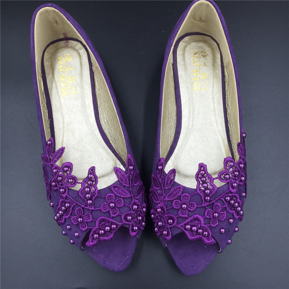 Primary image for Purple Wedding Slipper Shoes,Purple Wedding Shoe for Bridal,Bridal flats shoes