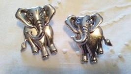 Signed AVON Pierced Earrings ELEPHANT Head Swivels & Turns - $34.95