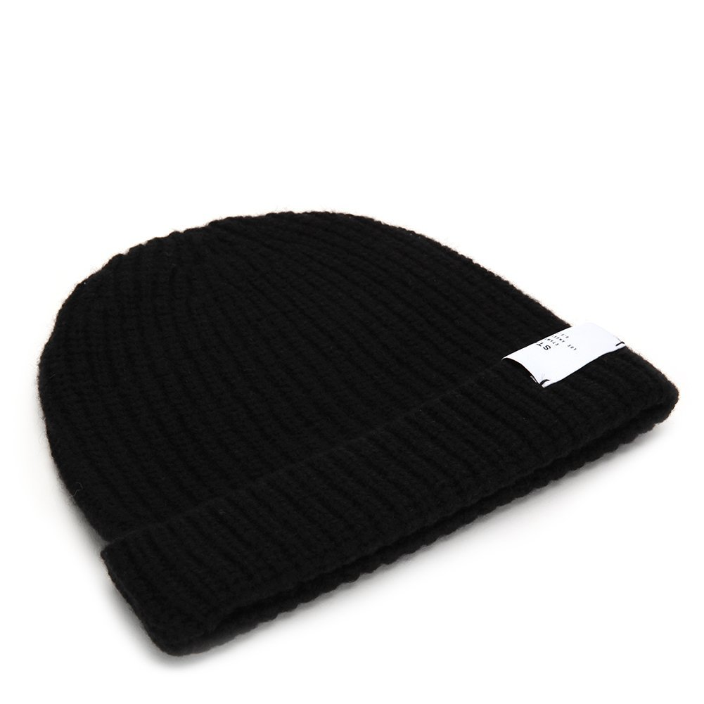 STAMPD Wool Dawn Beanie SLA-U814AC Black One Size