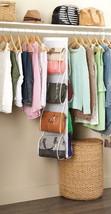 White Crystal Collection Handbag File Organizer, Purse,Pocket,Shelf, Store, Rack - $19.49