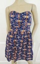 Nwt BeBop Cotton Summer Fit Flare Dress Sundress XL X-Large Juniors Navy... - $21.73