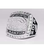 Fantasy Football Championship Ring Trophy - Silver Size 8-14 - $26.73