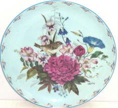 Floral Fancies Sitting Sunny Collector Plate Bird Cyndy Callog Floral - $59.95
