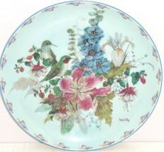 Floral Fancies Sitting Pretty Collector Plate Bird Cyndy Callog  Flowers - $59.95