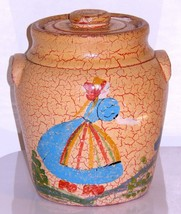 1930s Cookie Jar Stoneware Pottery Dutch Girl P... - $149.95