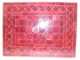 Lg. Moroccan Mosaic Tile Indoor/Outdoor Table in Red - $148.50