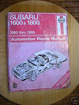 HAYNES Subaru Automotive Repair manual 1980 Thru 1989   how-to illustrat... - $7.91