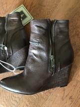 New Frye Women Short Boots, Wedge Bootie , Dark Brown Sz 10 - $140.15