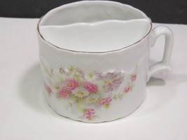 Antique German? Mustache Cup Floral - $23.76