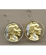 "Gold/Silver Coin Earrings, U.S. Copper-Nickel ""Indian Head"" 1913-1938 - $91.55+"