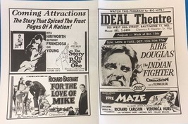 GUNS OF NAVARONE THE MAZE vintage 1961 handout Ideal Theatre (Hampden MD) - $9.89