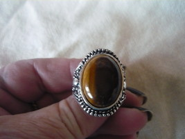 HAUNTED SHAITAN DJINN POWER OF POWER TIGER EYED Ring size 9 - $89.99