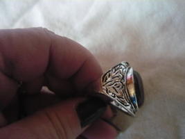 HAUNTED Rare Egyptian Marid Temple Djinn, male TIGER EYED RING SIZE 9 - $89.99