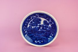 Beautiful Antique Spodes Tower Gift Pottery Serving DISH Copeland Blue A... - €43,64 EUR