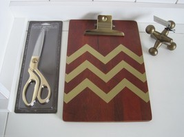 Wooden Clipboard Scissors Jack Paperweight Set ... - $112.20