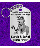 BEST FRIENDS Keychain Gift, Personalized FREE with Names! Tigger and Eeyore - $9.95