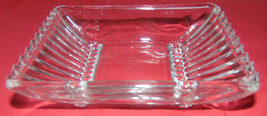 """Vintage Rectangle Dish Cut Crystal Striped On Ends-4 1/4""""X6 1/4""""-Relish-... - $3.95"""