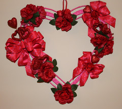 Valentines, Valentines Wreath, Heart Wreath, Red and Pink Wreath, Valent... - $49.99