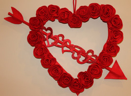 Valentines, Valentine's Wreath, Rose Wreath, Heart Wreath, Valentine's D... - $39.99