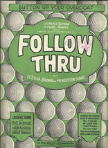 1928 Button Up Your Overcoat from Follow Thru Golfer's Vintage Sheet Music - $7.95