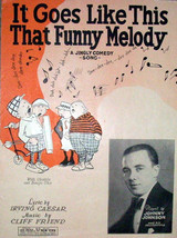 1928 It Goes Like This That Funny Melody Johnny Johnson Vintage Sheet Music - $7.95