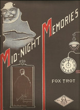 Rare 1920 Mid-Night Memories by The Unknown Composer Vintage Sheet Music - $7.95
