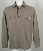 NEW! Polo Ralph Lauren Herringbone Pullover Shirt (Jacket)!  Large  Brown - $99.99