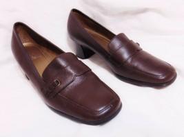 Ea Etienne Aigner Chivas Women's Chunky Heel Pumps Shoes Sz 8 M Dark Brown - $26.00