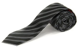 Alfani AR29130001 Men's Bling Stripe Neck Tie Black / Multi - $12.86