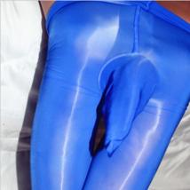 Men's Super Shiny High Glossy Pantyhose Nylon Stocking Tights Penis Sheath Pouch - $11.00