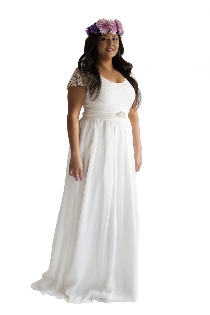 Plus Size Wedding Dress Chiffon Lace Boho and 34 similar items