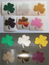 Notre Dame Shamrock decal sticker sizes up to 12 inches Reflective, Chro... - $3.46+