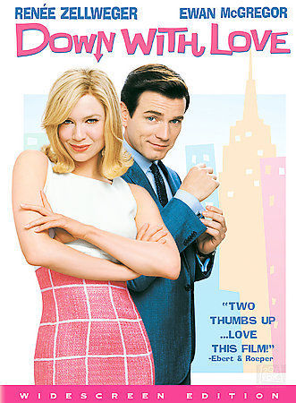 DOWN WITH LOVE widescreen DVD + 14 BONUS extras, cased LIKE NEW - MINT CONDITION