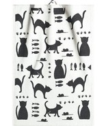 Ekelund Towel - Kattliv Organic Cotton Cat Pattern Kitchen or Hand Towel - $18.00