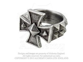 Cross of Iron English Pewter Ring by Alchemy Go... - $29.99