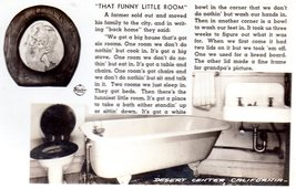 Collectible Postcard That Funny Little Room -Desert Center, CA - $4.00