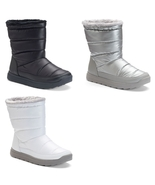 Tek Gear Womens Puff Fashion Boots Black, Silver, or White Size 8 10 NEW... - $37.50