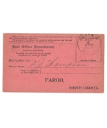 Post Office Official Business Registry Return Receipt Card Grandin 1909 ... - £3.83 GBP