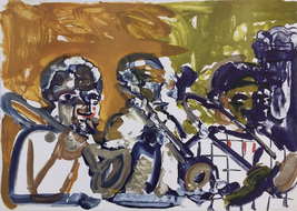 """Romare Bearden """"Brass Section, Jamming At Mintons"""" 1979 - Signed Print -... - $4,500.00"""