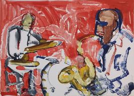 "Romare Bearden ""Out Chorus, Rythm Section"" 1979 - Signed Print - COA - G... - $4,500.00"