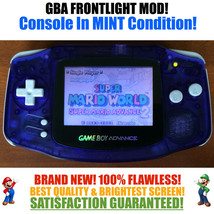 Nintendo Game Boy Advance GBA System AGS 001 Frontlit Front Light Mod Bl... - $98.95