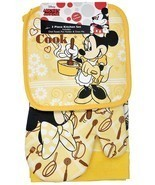 Disney Oven Mitt towel 3 piece Kitchen Set Minnie Mouse Cookin Minnie Co... - £10.28 GBP