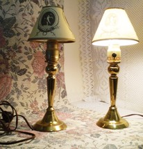 Two ROSTAND Antique All-Brass Converted Candles... - $43.66