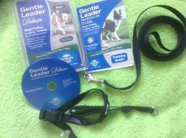 Gentle Leader Deluxe By PetSafe Head collar, 6' Leash, Training, Black, S, New - $24.74