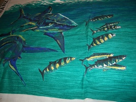 Boys' Shark Print Shorts Fabric Panel - $7.00