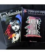 2 Easy Piano Music Books Andrew Lloyd Webber & Les Miserables Broadway M... - $21.15
